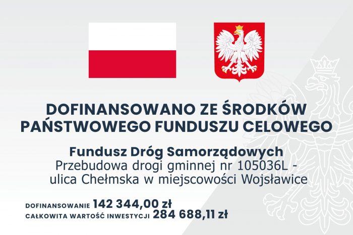 Przebudowa drogi gminnej 105036L – ulica Chełmska w miejscowości Wojsławice